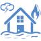บ้านไฟไหม้ น้ำท่วม