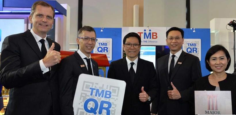 """สาธิตการใช้งาน TMB QR Code """"รับง่าย จ่ายคล่อง"""""""
