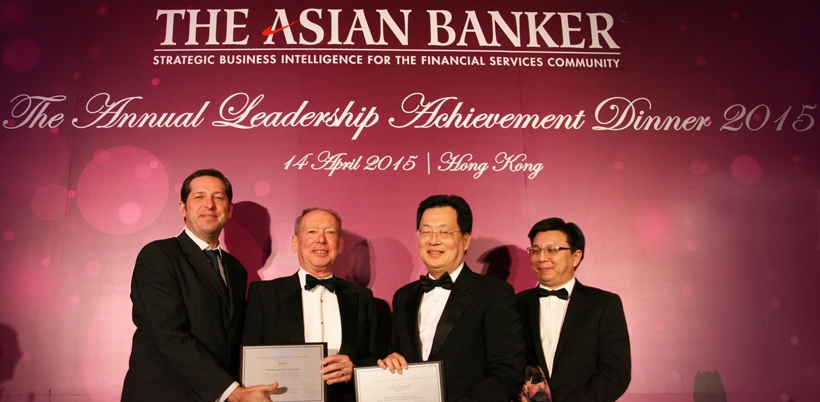 TMB Bank wins Best Managed Bank in Asia Pacific award and Boontuck Wungcharoen  named  Best CEO of the Year award in 2015
