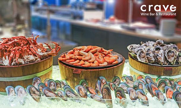 ห้องอาหาร Crave Wine Bar & Restaurant โรงแรม Aloft Bangkok - Sukhumvit 11
