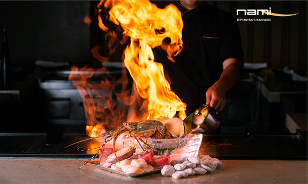 ห้องอาหาร Nami Teppanyaki Steakhouse โรงแรม JW Marriott Bangkok Hotel
