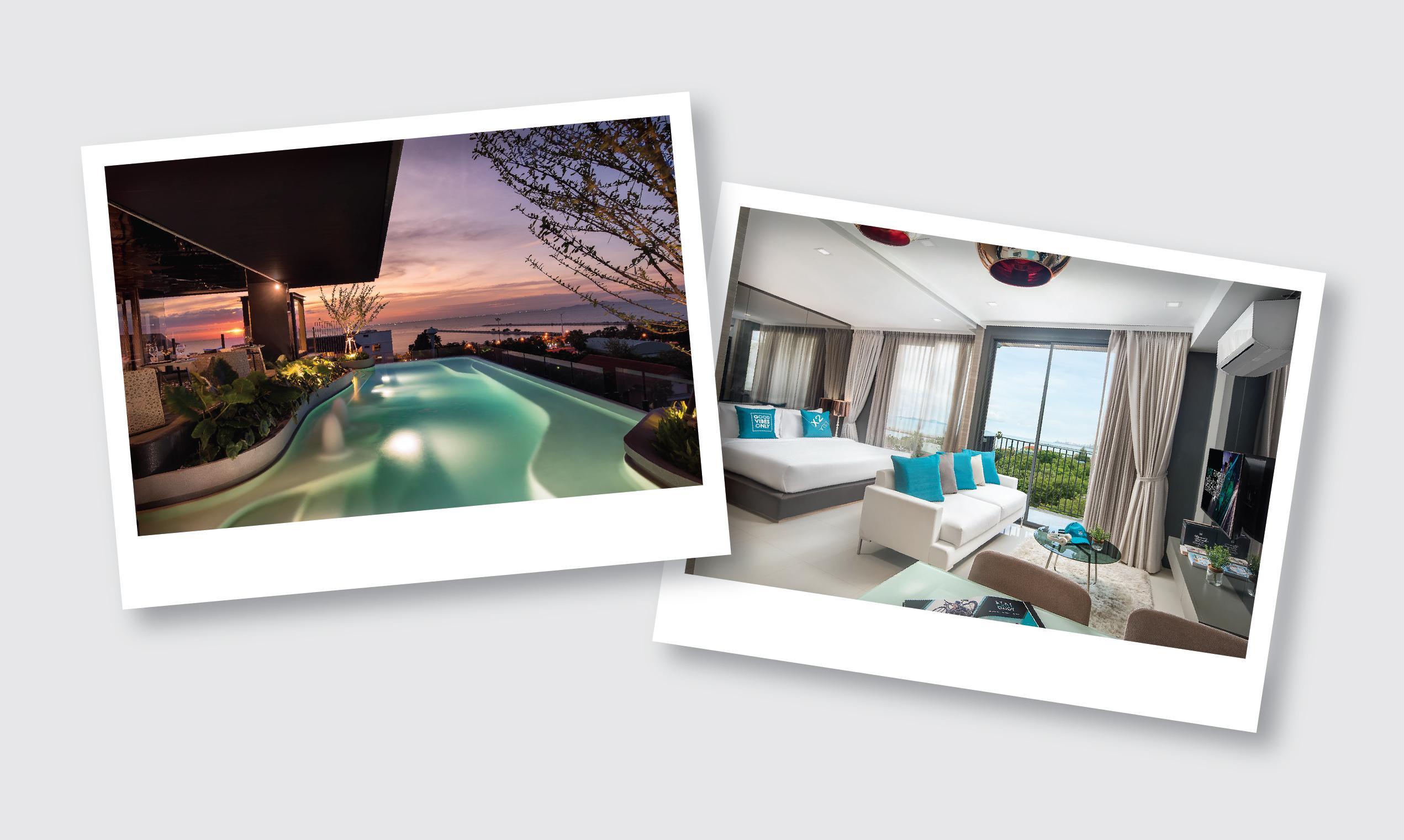 บัตรห้องพักโรงแรม X2 Vibe Pattaya