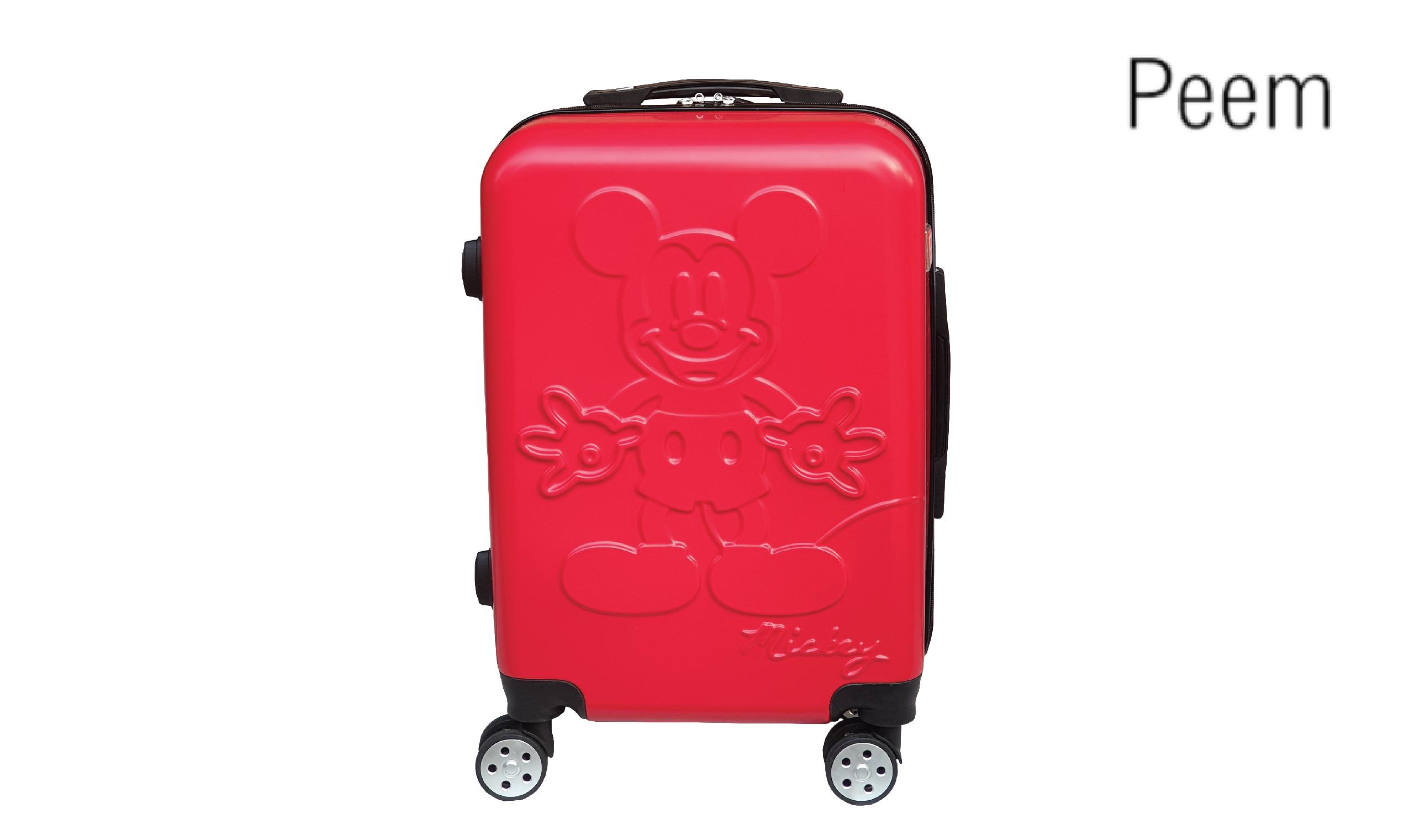 Peem PDNY004RD กระเป๋าเดินทาง 20 นิ้ว ลาย Mickey Mouse สีแดง